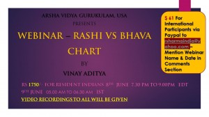 Webinar- Rashi Vs Bhava chart by Vinay Aditya (8th June 7.30 pm to 9.00 pm) [SA]