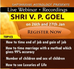 Recordings: Two day Webinar - Job & Marriage Timing by V. P. Goel   [SA]