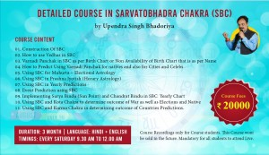 [RECORDED] Detailed Course In Sarvotobhadra Chakra ( SBC ) By Upendra Singh Bhadoriya