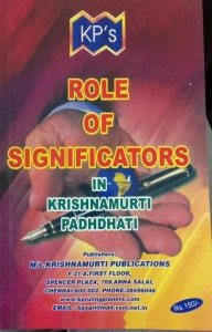 ROLE OF SIGNIFICATORS