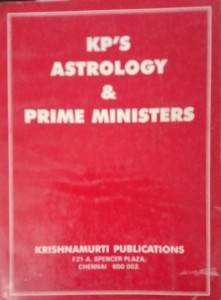 KP'S ASTROLOGY AND PRIME MINISTERS