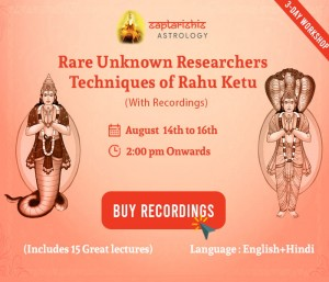 (Recordings) Rare Unknown Researchers Techniques of Rahu Ketu
