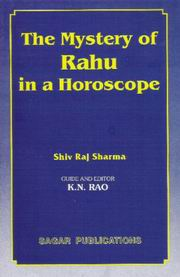The Mystery Of Rahu In Horoscope By Shivraj Sharma [Eng] sagar publications astrology books