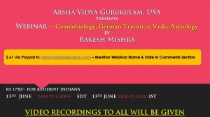 Webinar Recording:  Cosmobiology, German Transit in Vedic Astrology By R K Das [SA]