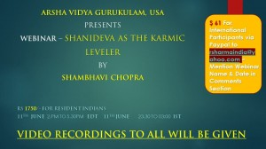 Webinar Recordings:  Shanidev The Karmic Leveler by Shambhavi Chopra [SA]