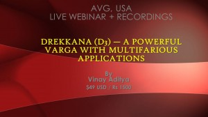 Webinar Recordings: Drekkana (D3) — A Powerful Varga With Multifarious Applications by Vinay Aditya [SA]