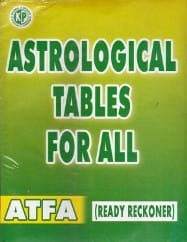 Astrological Tables For All By K. Subramaniam [KP]