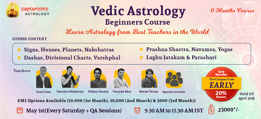 Beginners Course In Vedic Astrology Level 1